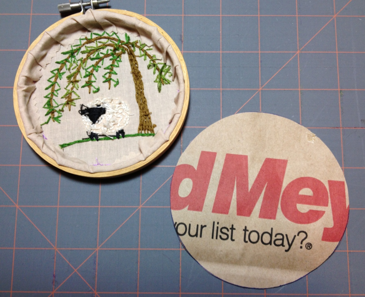 MooshieStitch How To Finish Back Of Embroidery Hoop