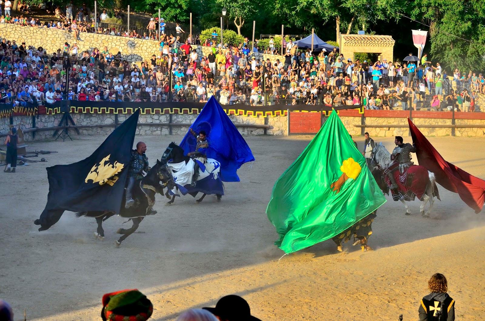 Presentación de los caballeros en el torneo medieval en Hita. Imagen: Daniel Salvador