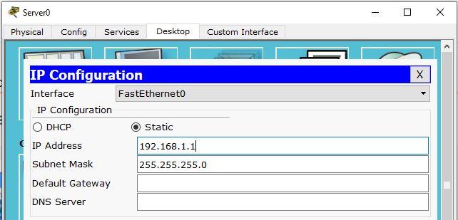 pengaturan ip address pada dhcp server