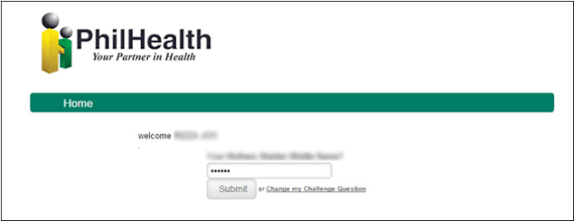 PhilHealth security questions