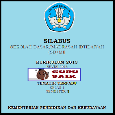 Download Silabus Kelas 1 Semester 2 K13 Revisi 2018