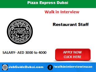 Pizza Express Dubai career for Chef, Waiter and Waitress job in Dubai