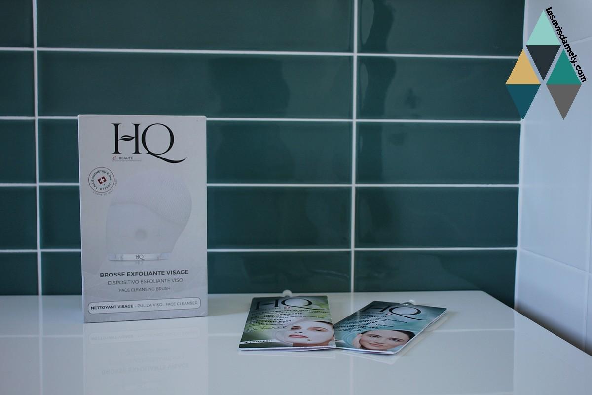 avis et test brosse exfoliante vibrante hq