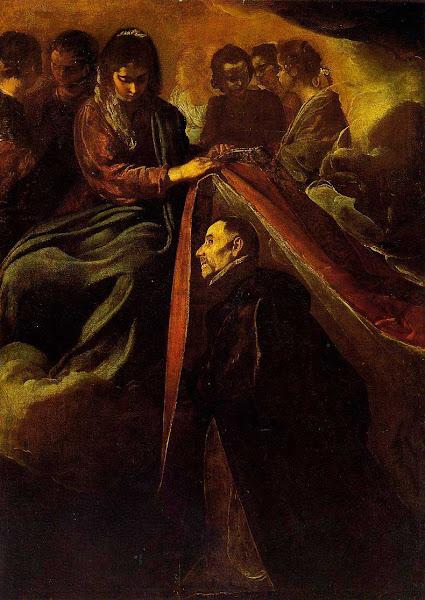 Диего Веласкес - Явление Богоматери Илдефонсу и укрытие его робой (1620)