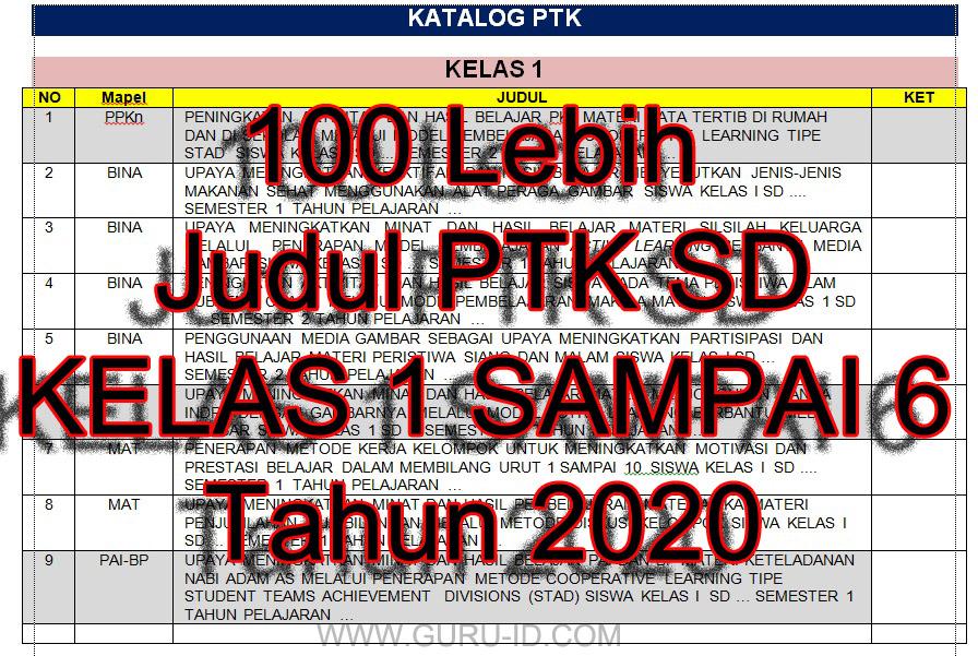 gambar judul PTK sd 2020