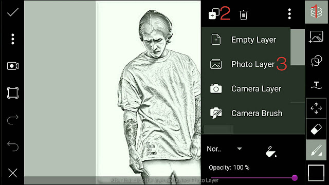 Cara Edit Foto Portrait Sketch Effect dengan Picsart | Piscart Editing