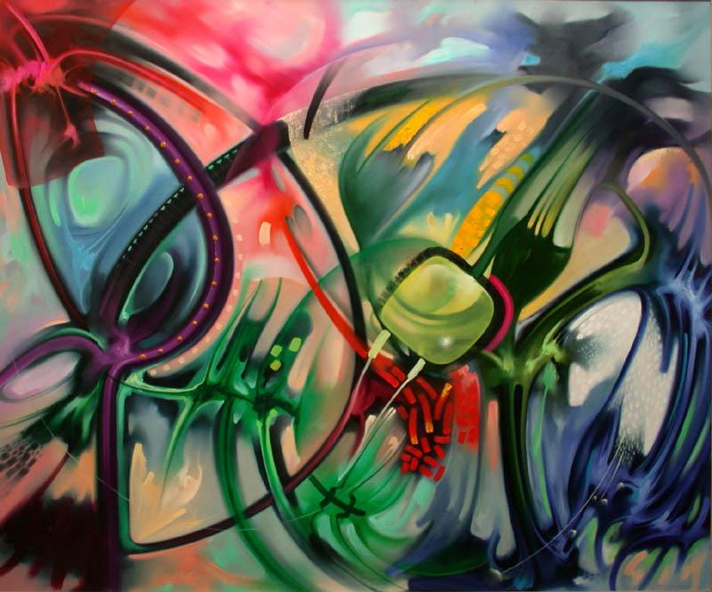 Cuadros pinturas arte oleos modernos coloridos - Pintar un cuadro moderno ...