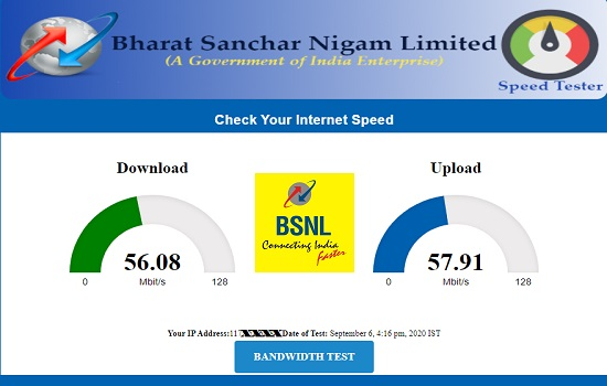 BSNL launched new Speed Test portal to check your Broadband and FTTH  internet speed / bandwidth