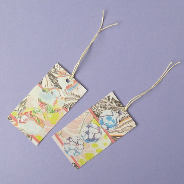 Pretty DIY gift tags from patterned paper
