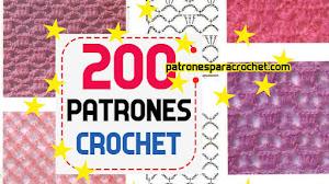 200 patrones crochet de puntos ✅