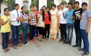 Students of HVM celebrates their success in CBSE class 10th result