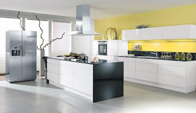 Weisse Küche Hochglanz