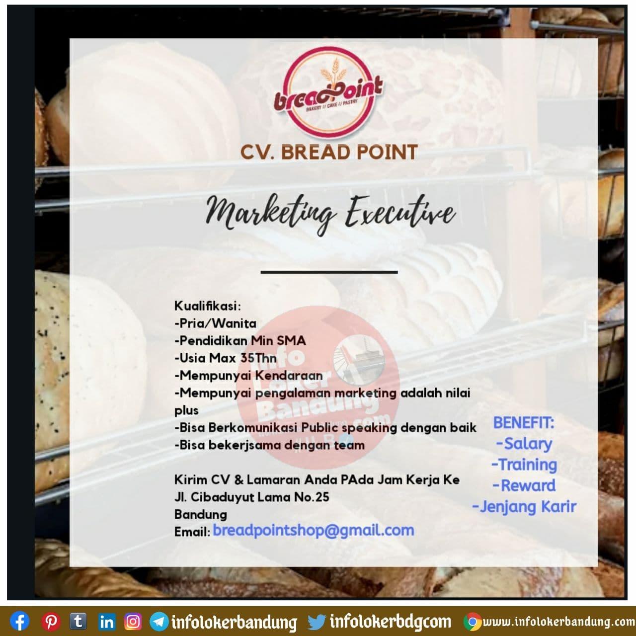 Lowongan Kerja CV Bread Point Bandung November 2020