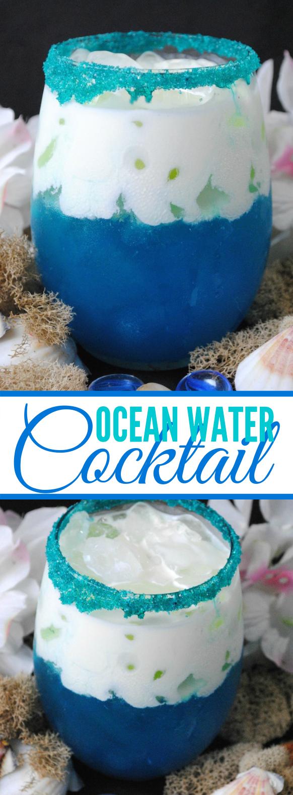 Ocean Water Cocktail Recipe #drinks #summer
