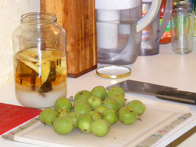 Green walnuts for homemade liqueur. Photo by Loire Valley Time Travel.