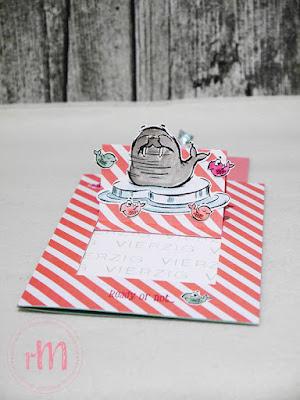 Stampin' Up! rosa Mädchen Kulmbach: Pop Up Geburtstagskarte zum 40. mit We'll Walrus be Friends