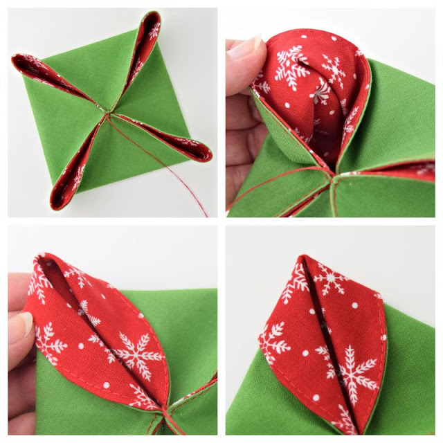folded Christmas ornaments