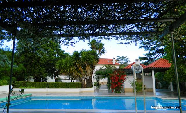 Piscina do Hotel Solar Cerca do Mosteiro Alcobaça, Portugal