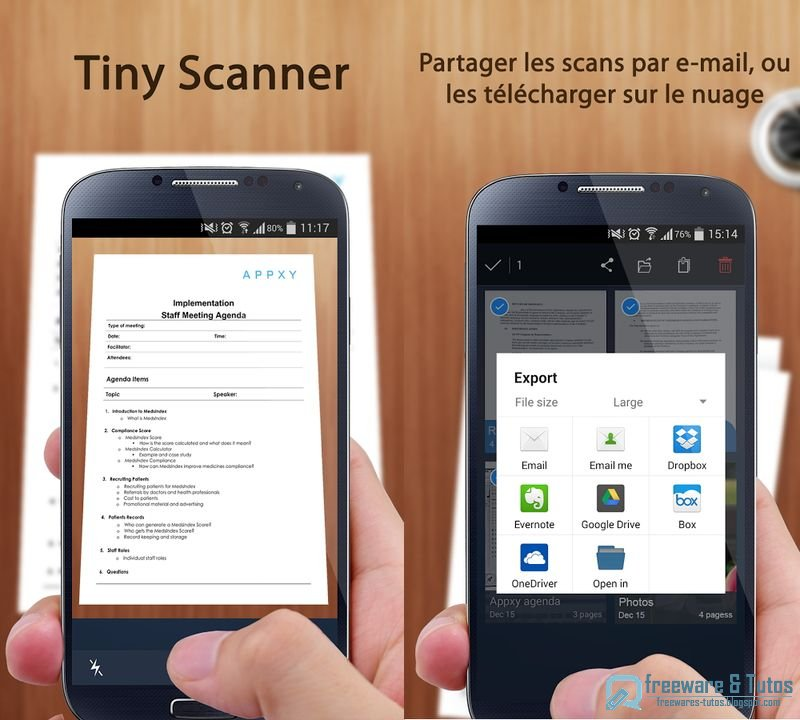 th me 61 5 applications pour transformer votre smartphone en scanner portable freewares tutos. Black Bedroom Furniture Sets. Home Design Ideas