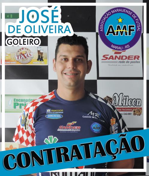 A AMF – Associação Marauense de Futsal completa seu trio de goleiros com o  anúncio da contratação do atleta José de Oliveira. c34764306c706