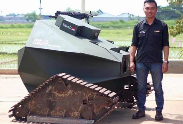 HEBAT!! Mahasiswa ITS Ciptakan Robot Tank