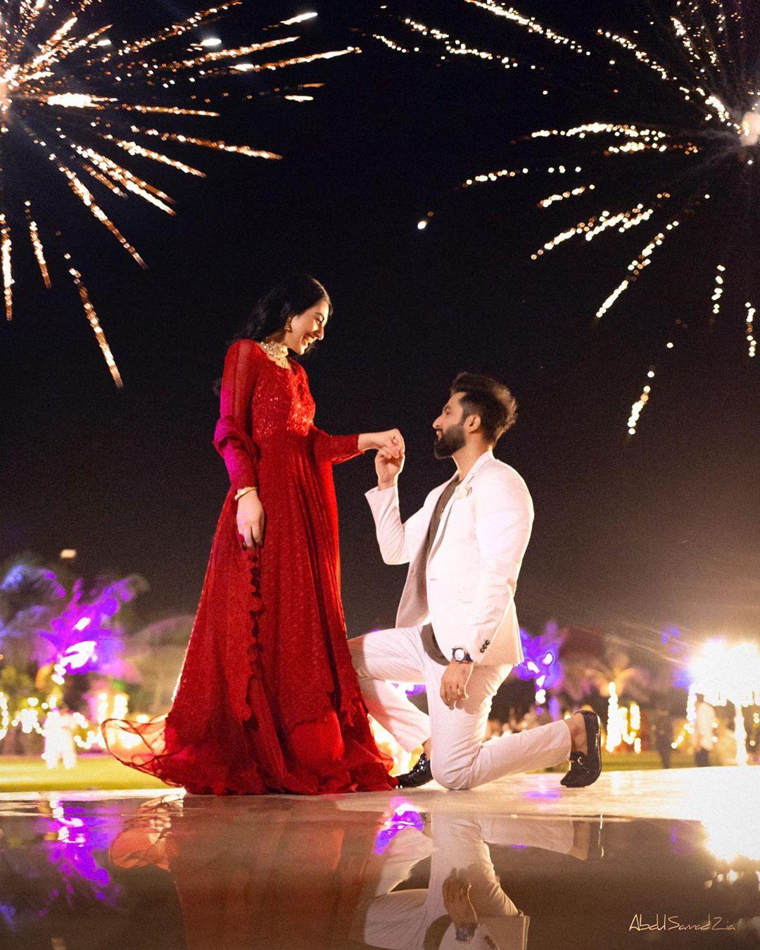 Falak Shabir Sarah Khan Engagement