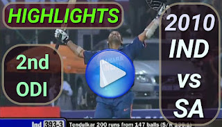 India vs South Africa 2nd odi 2010 highlights