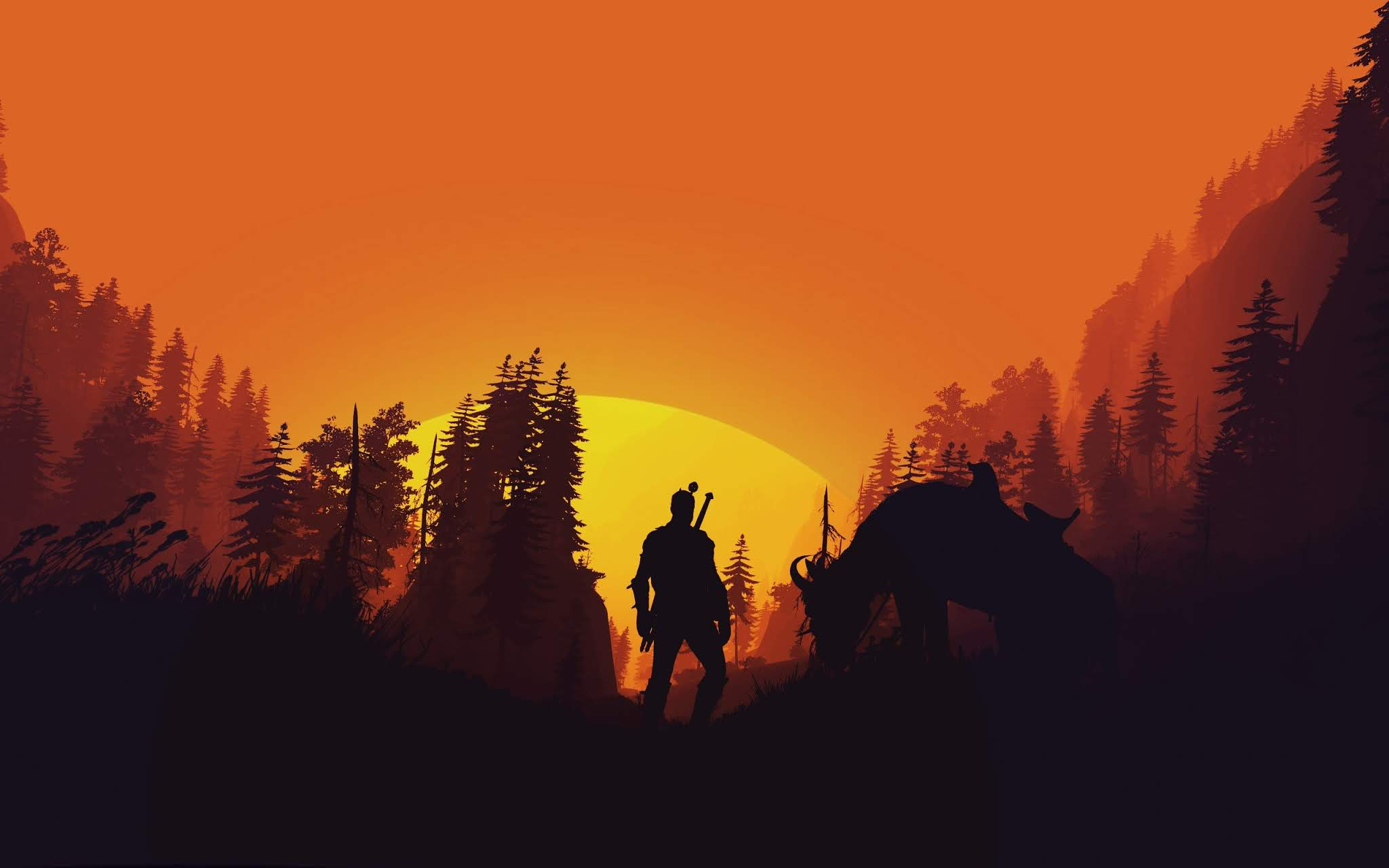 The Witcher 3 Wild Hunt 4k Minimal