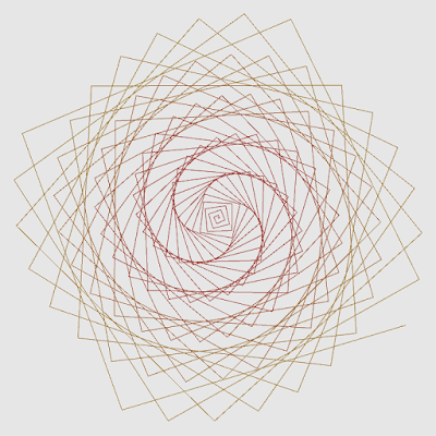 An example image of some shape calculated in polar coordinates.