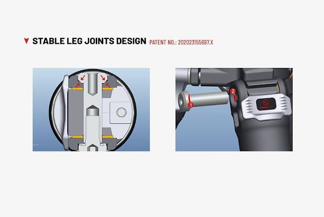 New patented leg hinges design