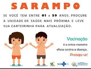 Registro-SP confirma mais dois casos de sarampo