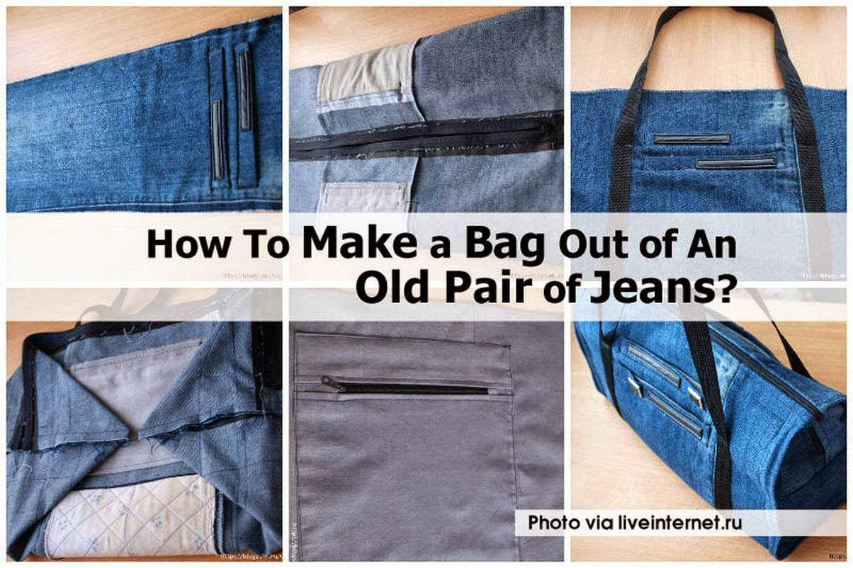 How To Get Rid Of Old Sofa Nyc Quality Bed Make A Bag Out An Pair Jeans Handy Diy