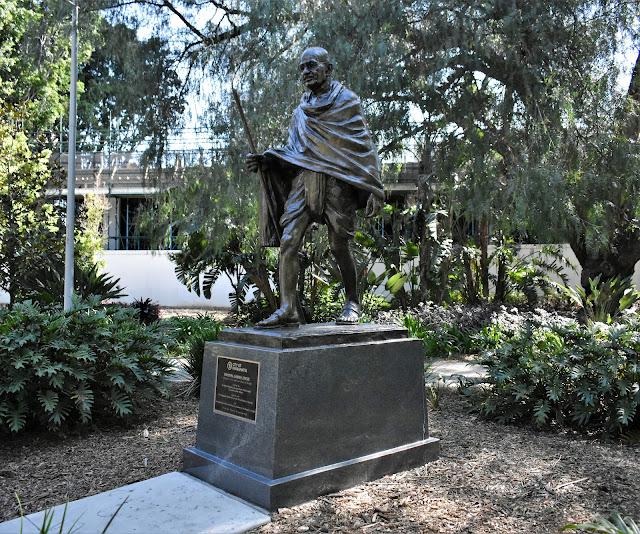 Parramatta Public Art | Gandi sculpture by artists Ram & Anil Sutar