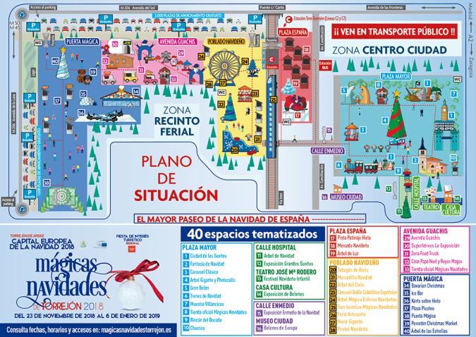 Plano situación paseo de la navidad Torrejon