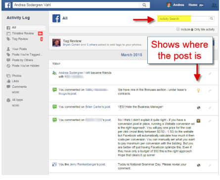 How To Find Facebook Posts