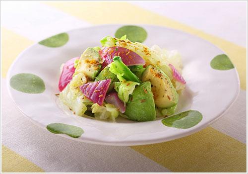 春キャベツとアボカドのクミンサラダ