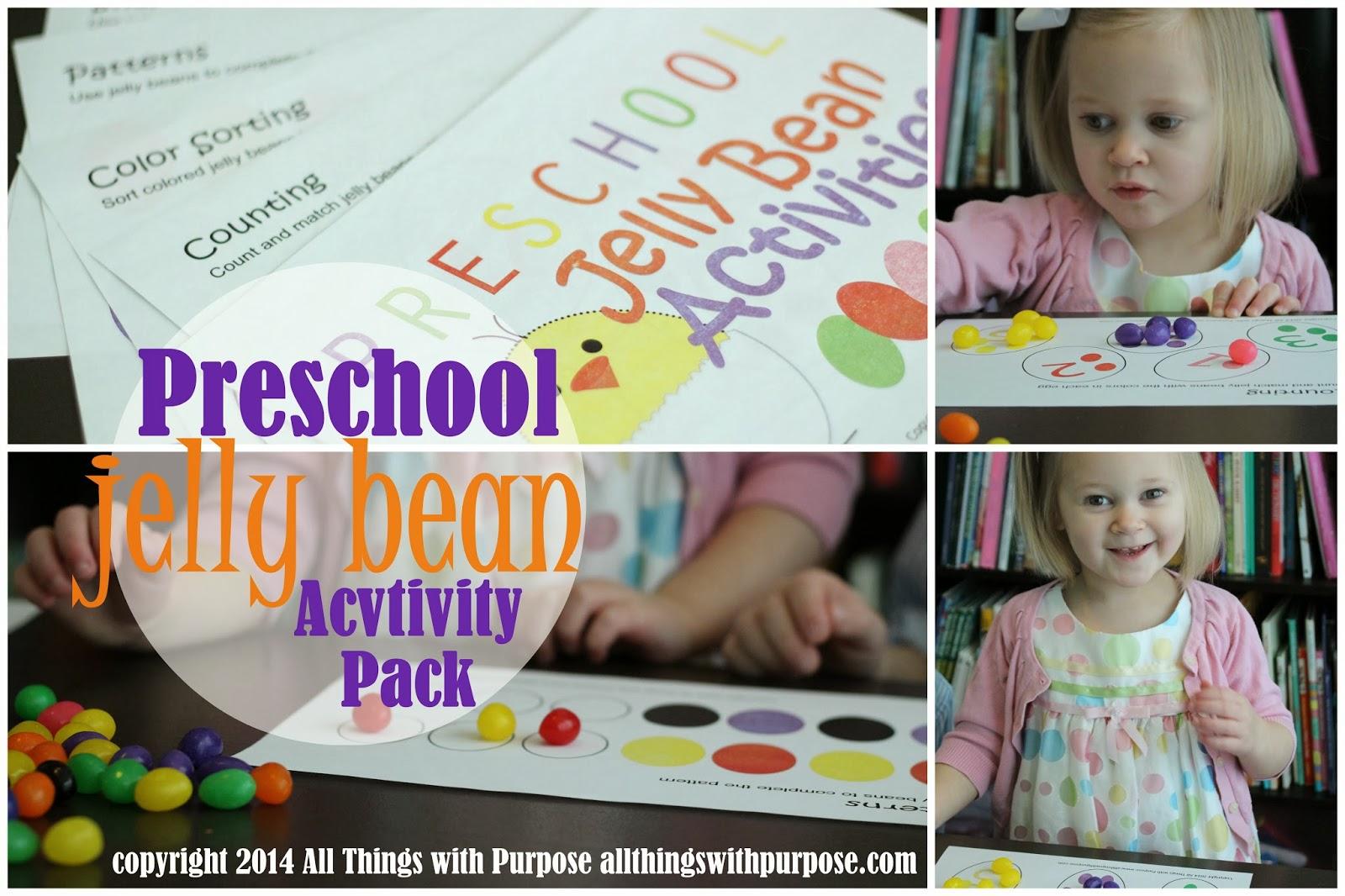 Jelly Bean Preschool Activity Pack