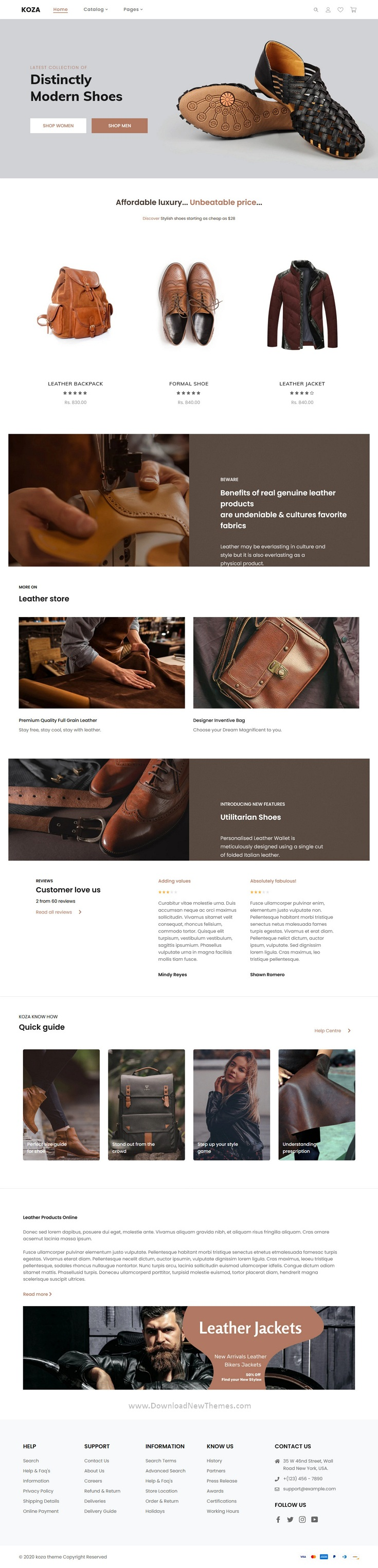 Leather Market Shopify Theme