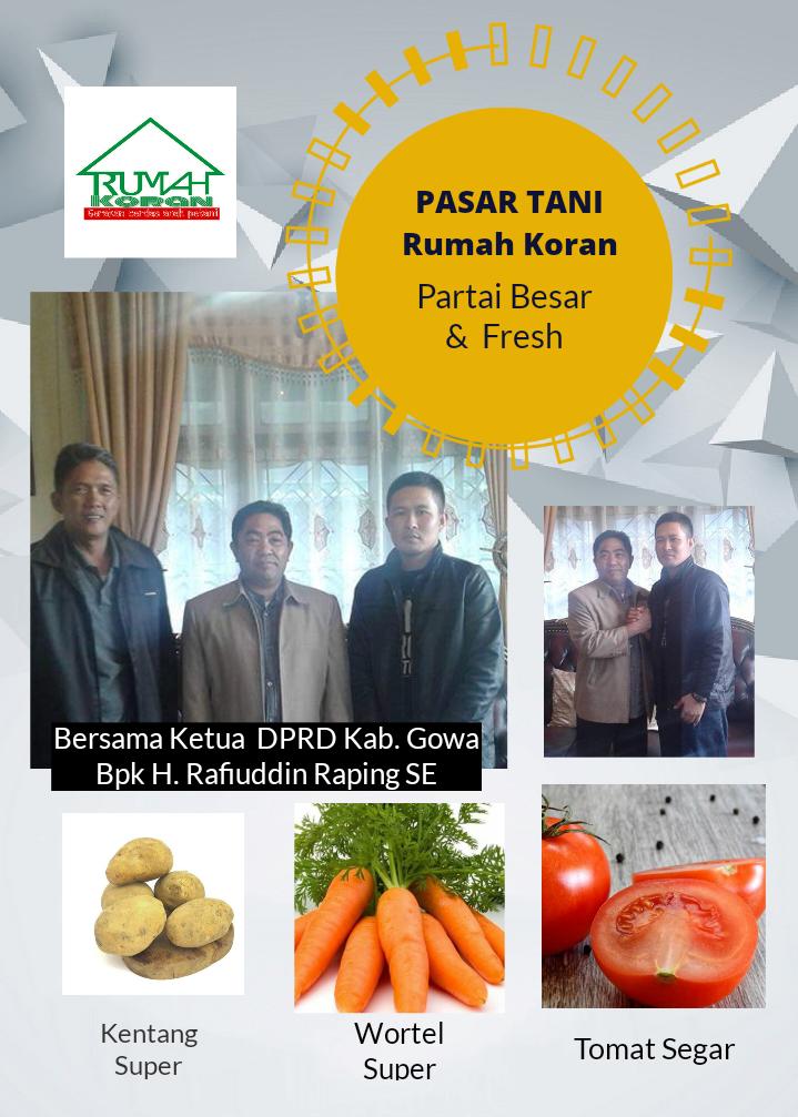 Pasar Tani Rumah Koran Bersama Ketua DPRD Kabupaten Gowa