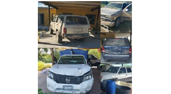 Fotos; Grupo de Operaciones Especiales detectan con helicóptero y miras telescópicas Narco-rancho y lo revientan en Tamaulipas ; vehículos todo terreno son quitados a Sicarios