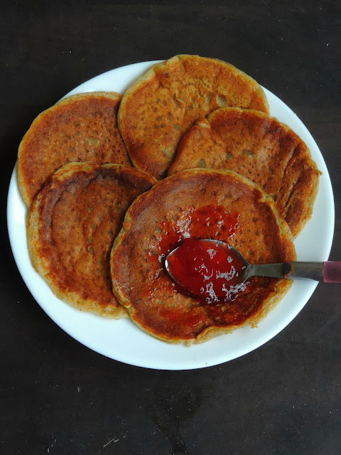 Rye flour pancakes, Eggless Rye pancakes