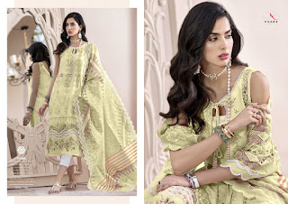 Kaara Suits Noor Gold Cotton Pakistani Suits