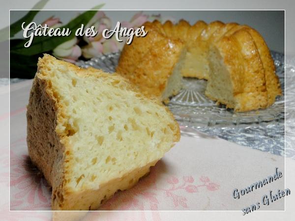 Gâteau des anges ou Angel Food cake, sans gluten