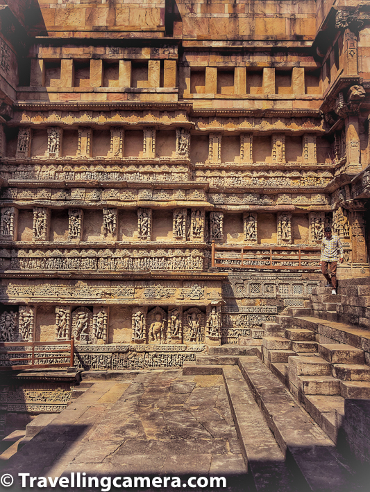 Timings of Rani ki Vav are from 8:30am till 7pm everyday with some holidays which should be checked on official website before planning your visit. The place is maintained by Archeological Survey of India and their website would list latest details around timings and ticket pricing.     There is an entry ticket for Rani ki Vav in Patan town of Gujrat. Entry fee is 40 INR for indians and 600 INR for foreigners.     Related Blogpost from Gujrat - One day Trip around Ahmedabad - Adalaj ni Vav, Modhera Sun Temple, Patan's Rani ni Vav & Gandhinagar