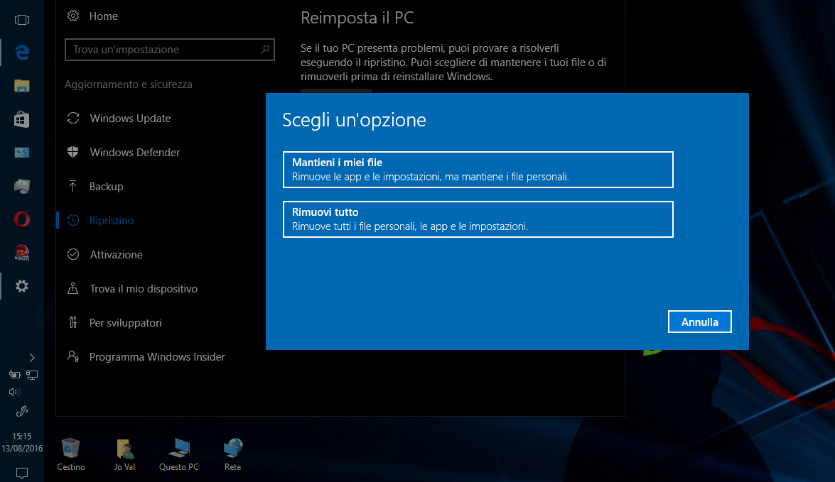 Come e perché ripristinare PC Windows 10 dopo Update