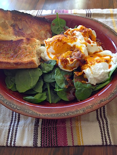 Turkish Spiced Poached Eggs by Lori Buff