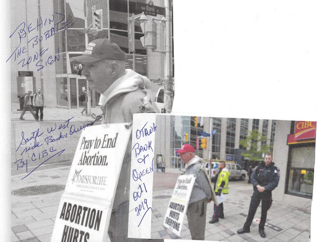 Harassment by police of 90 year old pro-lifer