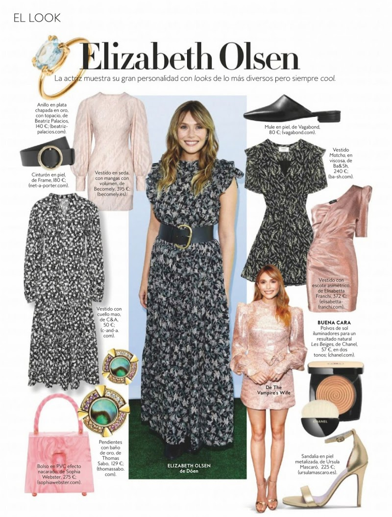 Elizabeth Olsen Clicked For  InStyle Magazine Spain July 2020