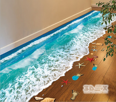 epoxy painted 3D flooring for restaurants