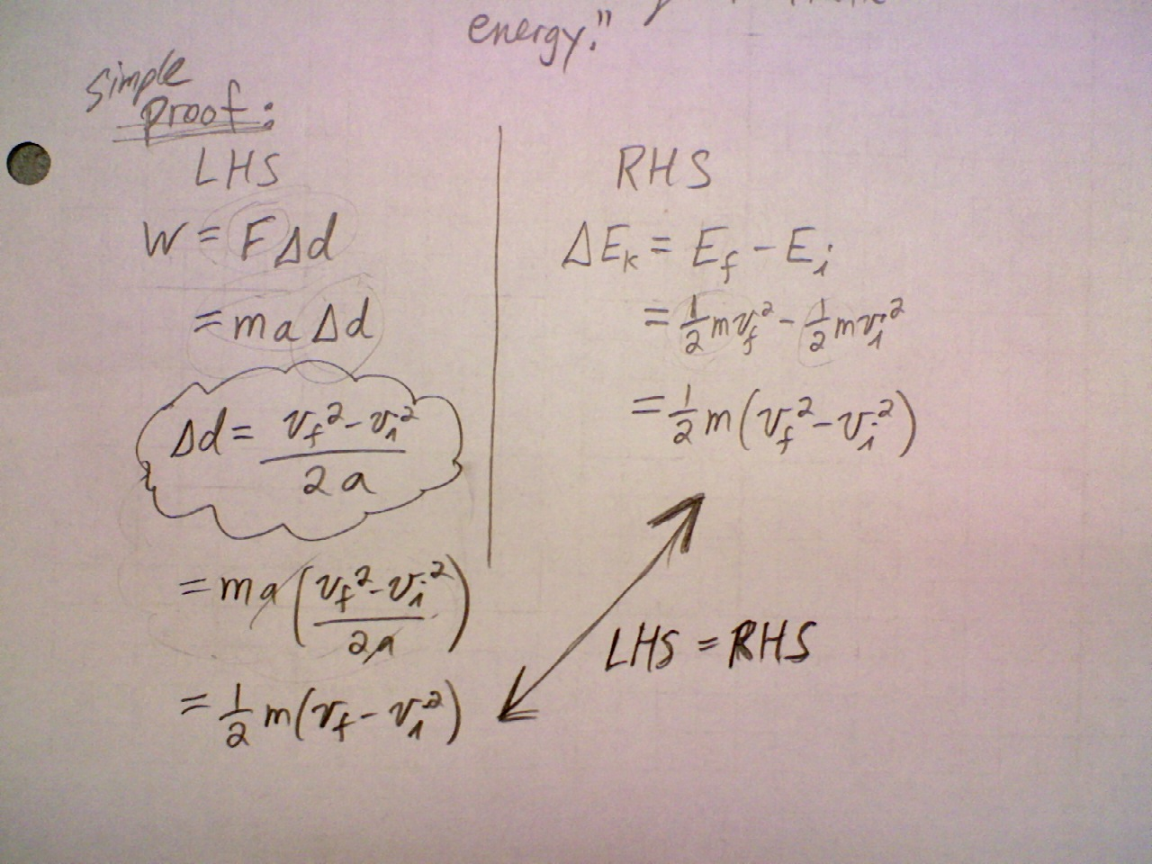 May 9 Class Work And Kinetic Energy